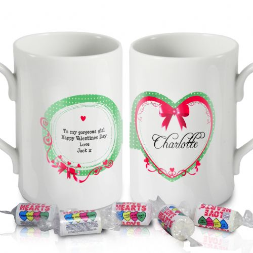 Personalised Red Ribbon Windsor Mug